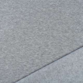 Трикотаж на флисе бледно-серый ш.160 оптом