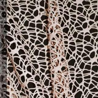 Сетка кружево персиковая ш.160 оптом