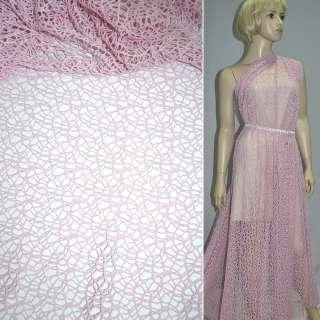 Сетка кружево розовая ш.150 оптом
