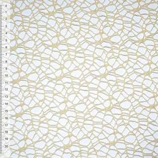 Сетка кружево кремовая (от. темнее) ш.160 оптом