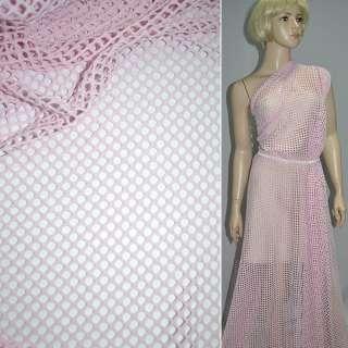Сетка трикотажная розовая ш.150 оптом