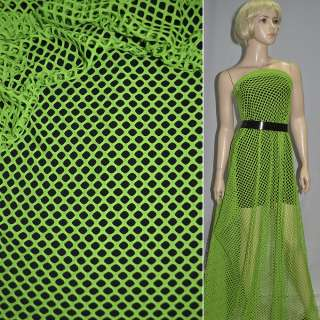 Сетка трикотажная ярко-зеленая ш.150 оптом
