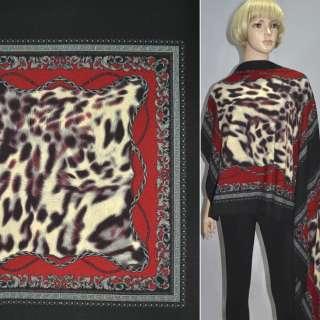 Трикотаж черно-красный платки ш.150 оптом