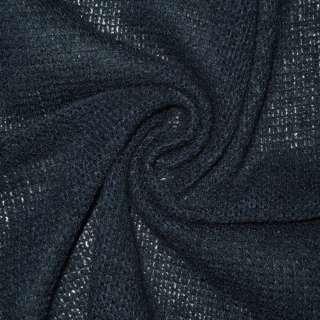Трикотаж вязаный синий шерст. ш.170 оптом