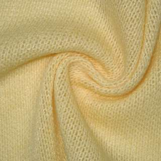 Трикотаж вязаный бледно желтый шерст. ш.170 оптом