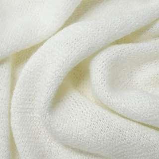 Трикотаж вязаный белый ш.180 оптом