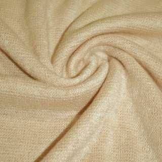 Трикотаж вязаный пшеничный (оттенок розовый) ш.175 оптом