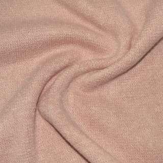 Трикотаж вязаный бледно розовый ш.170 оптом