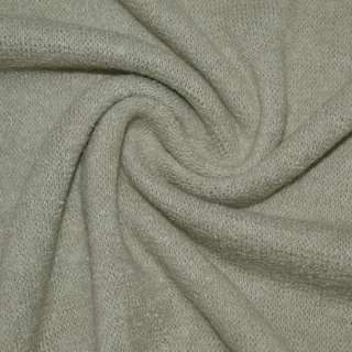 Трикотаж вязаный светло серый ш.170 оптом