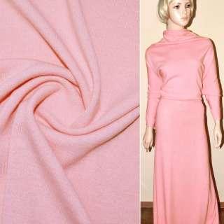 Трикотаж шерстяной розовый ш.180 оптом