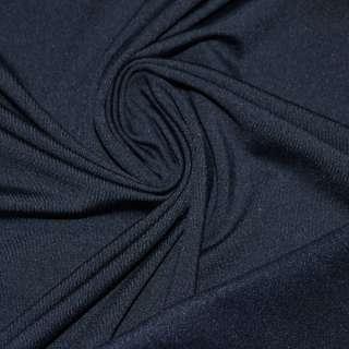 Трикотаж темно синий с начесом стрейч ш.176 оптом