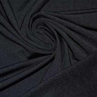 Трикотаж черный с начесом стрейч ш.180 оптом