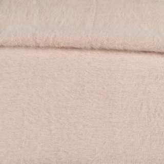 Ангора длинноворсовая трикотаж бежевая меланж ш.135 оптом