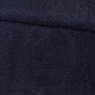 Ангора длинноворсовая трикотаж синяя темная ш.125 оптом