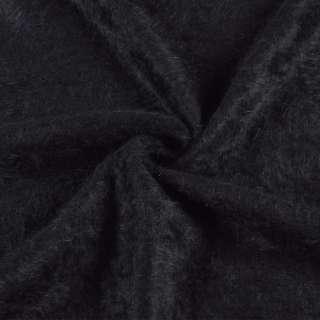 Ангора длинноворсовая, трикотаж черная ш.135 оптом