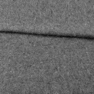 Ангора длинноворсовая, трикотаж (чулок) серая с черными вкраплениями ш.230 оптом