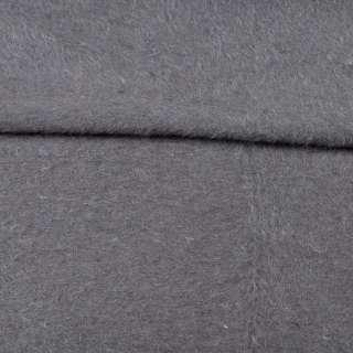 Ангора длинноворсовая, трикотаж (чулок) серый на белой основе ш.220 оптом