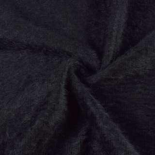 Ангора длинноворсовая трикотаж черно-фиолетовая ш.142 оптом