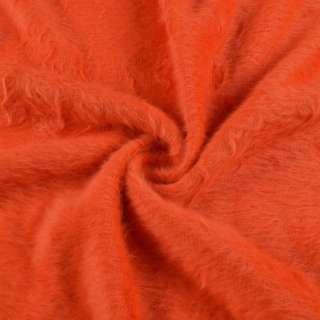 Ангора длинноворсовая трикотаж оранжевая яркая ш.130 оптом