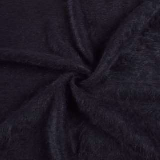Ангора довговорсова, трикотаж синьо-чорна ш.135 оптом