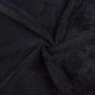 Ангора длинноворсовая, трикотаж черная на фиолетовой основе в полоску ш.140 оптом