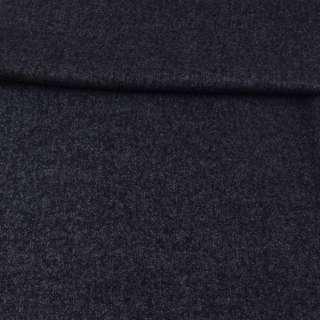 Трикотаж шерстяной серо-синий меланж ш.150 оптом