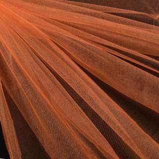 Еврофатин мягкий блестящий оранжевый, ш.140 оптом
