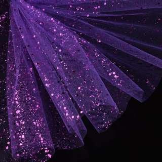 Фатин жорсткий з блискітками фіолетовий яскравий ш.160 оптом