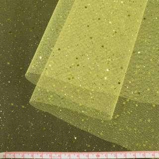 Фатин жорсткий з блискітками лимонний ш.160 оптом