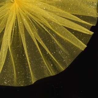Фатин жорсткий з блискітками жовтий яскравий ш.160 оптом