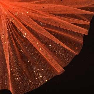 Фатин жорсткий з блискітками помаранчевий ш.160 оптом