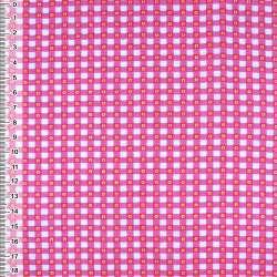 фланель белая в малиновые квадратики ш.105 оптом