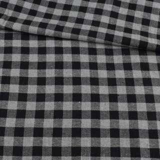 Фланель сорочкова в чорно-сіру клітку, ш.145 оптом