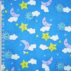 фланель голубая - небо ш.110 оптом