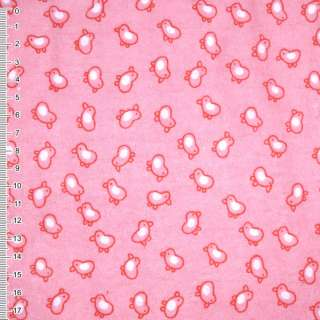 Фланель розово-красная птички ш.110 оптом