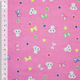 Фланель розовая котик ш.110 оптом