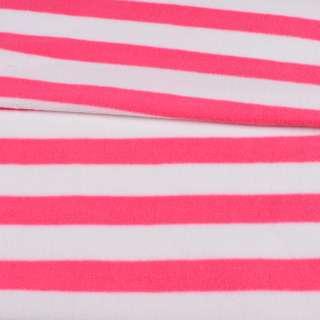 Флис в розово-белую полоску 3*2,5 ш.185 оптом