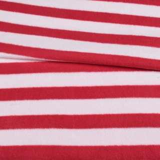 Флис в красно-белую полоску 3*2,5 ш.185 оптом