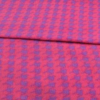 Флис розовый в фиолетовую гусиную лапку ш.190 оптом