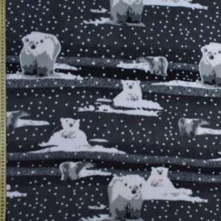 Флис серый, белый медвежонок ш.165 оптом