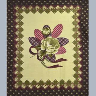Флис  желто - оливк.  розой  и  бордовой  каймой оптом
