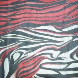 Шелк черный с красно-белыми разводами ш.140 оптом