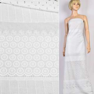 Шитье белое хлопок вышивка  с просветами ш.142 оптом