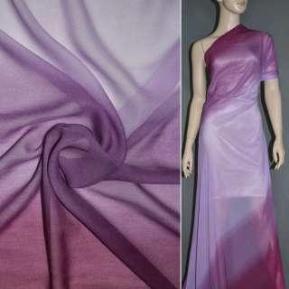 Шифон диллон сиренево фиолетовая радуга ш.150 оптом