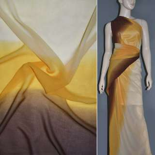 Шифон диллон желто персиково коричневый радуга ш.150 оптом