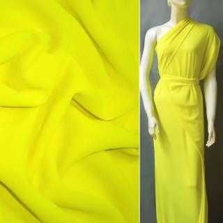Креп-шифон стрейч жовто-лимонний ш.150 оптом