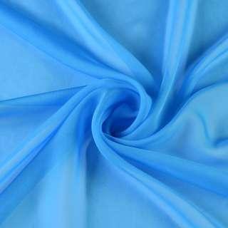 Шифон диллон голубой насыщен. ш.150 оптом