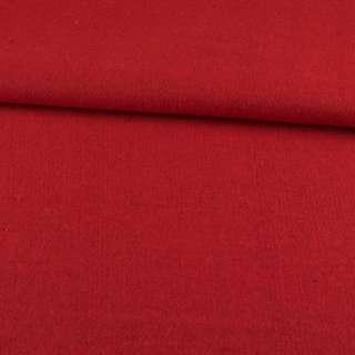 Рогожка пальтова з шерстю червона, ш.155 оптом