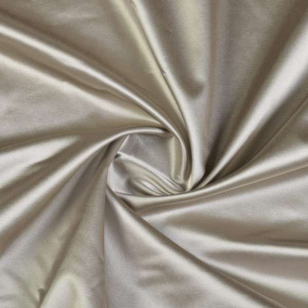 Атлас стрейч бежево-серый, ш.140 оптом