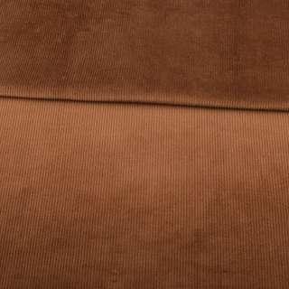 Вельвет стрейч коричневий ш.150 оптом